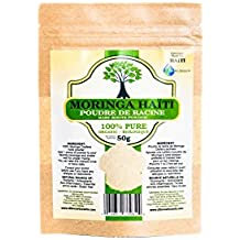 Moringa Oleifera Young Roots Powder - 100% Organic - Enhance Blood circulation - Procure Vitality,DNA Force, Brain Force - Natural Source Of Magnesium Selenium
