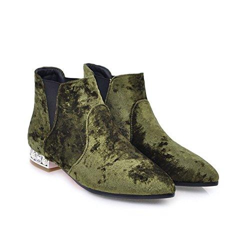 Toe Zapatos Mujer Qin amp;x Botas Señaló Cxq Bloque Botines La Corto rdxoQCBeW