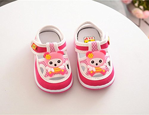 Jamicy® Babyschuhe, Infant Boys Girls Cute Cartoon Anti-Rutsch-Weiche Sohle Erste Wanderschuhe Rosa