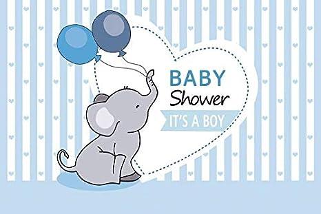 Amazon Com Yeele 5x3ft Vinyl Background For Photography Boy Born Baby Shower Little Elephant Balloon Stripe Photo Backdrop Party Decoration Banner Newborn Birth Portrait Booth Shoot Studio Props Camera Photo