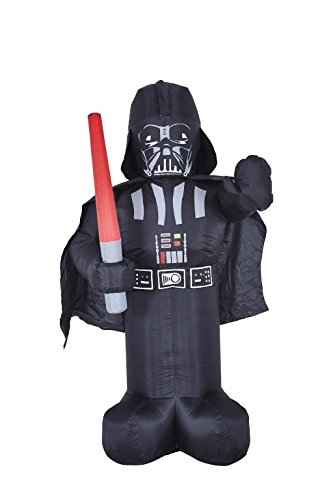 Jabba Costumes (Morbid Enterprises Star Wars Darth Vader Lawn Inflatable, Black/Grey/Red, One Size)