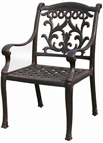 K B PATIO LD1238-1 Mandalay Dining Chair, Antique Bronze