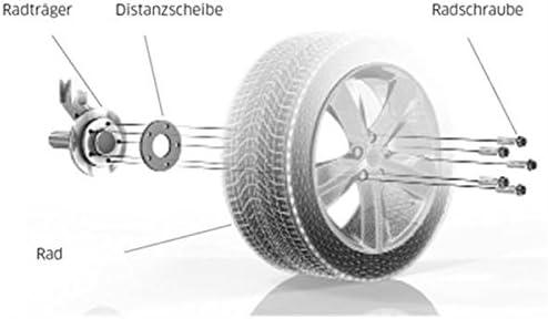 10 mm//Achse Radschrauben 10 mm//Achse TuningHeads//H/&R .0478533.DK.B10255571 Spurverbreiterung Blackline