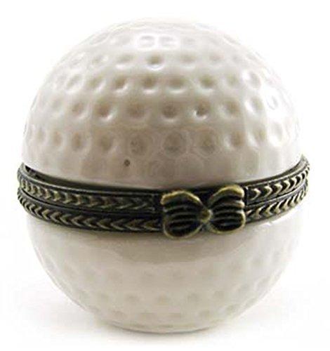 Golf Ball Trinket - Golfer Golf Ball Club Clubs Bag Caddy Trinket Box phb by Art Gifts