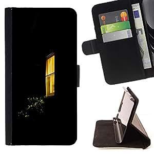 Momo Phone Case / Flip Funda de Cuero Case Cover - Ventana Negro Amarillo Inicio - Samsung ALPHA G850