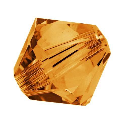 Topaz Swarovski Crystal Beads - Swarovski Crystal, #5328 Bicone Beads 6mm, 20 Pieces, Topaz