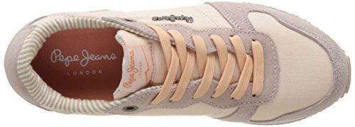 Pepe Jeans London Damen Gable Monocrome Sneaker Pink (Face)
