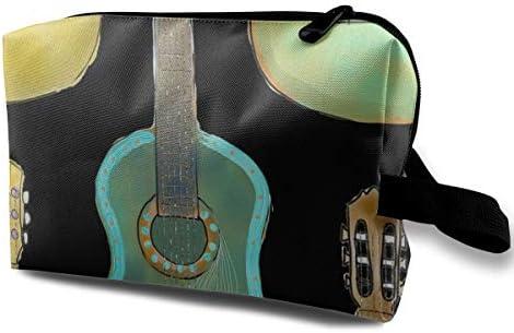 Guitarra pintada con Background_280 Negro Bolsa de cosméticos ...