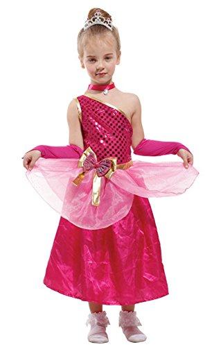 Halloween Costumes Princess Skirt Performance Clothing Sequins Dinner Dress Girl (X-Large)