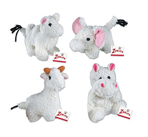 Fleecy Friends Soft Squeaker Dog Toy Camel Hippo Elephant Llama or Set of 4 Toys(Full Set of All 4 Toys) For Sale