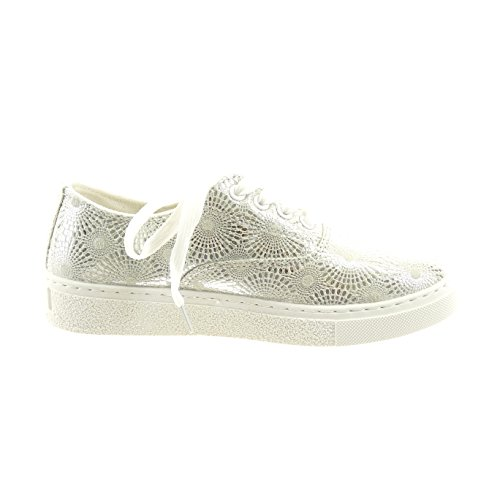 Sopily - damen Mode Schuhe Sneaker camouflage - Silber