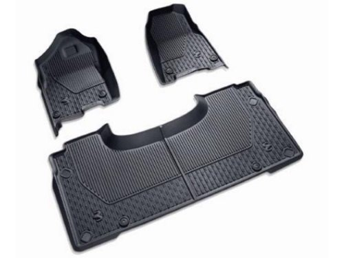 82215323AB - 2019 Ram 1500 All-Weather Slush Mats - Black - Quad Cab
