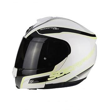 Scorpion Exo 3000 Aire paseo motocicleta cascos, color blanco/negro, talla XS