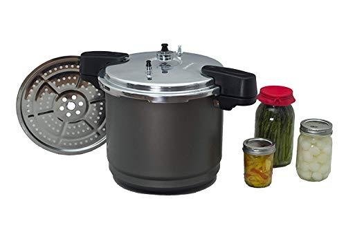 Granite Ware Pressure Canner and Cooker/Steamer, 12-Quart, Black