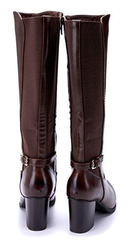 Camel Boots Klassische Stiefeletten Blockabsatz Stiefel cm Damen Schnalle Schuhtempel24 7 Schuhe xRwXqX7v