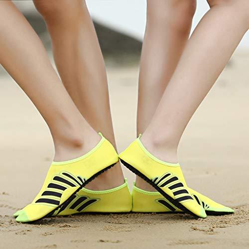 Men Women Yoga Water Shoes,Couple Summer Quick Drying Aqua Socks Barefoot Outdoor Beach Swim Slip-Proof Diving Shoes by Dacawin-Water Shoes (Image #1)