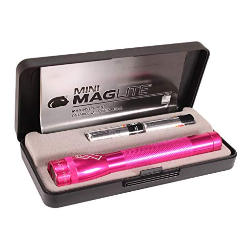 Maglite, Mini-Mag Flashlight, AA Box, NBCF Pink