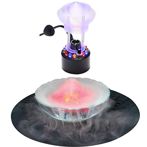 W&X Halloween Party Mist Maker,Halloween Mist Maker Fogger Waterproof Frame 12 LED Red Yellow Blue Light Flashes Best Halloween Decoration