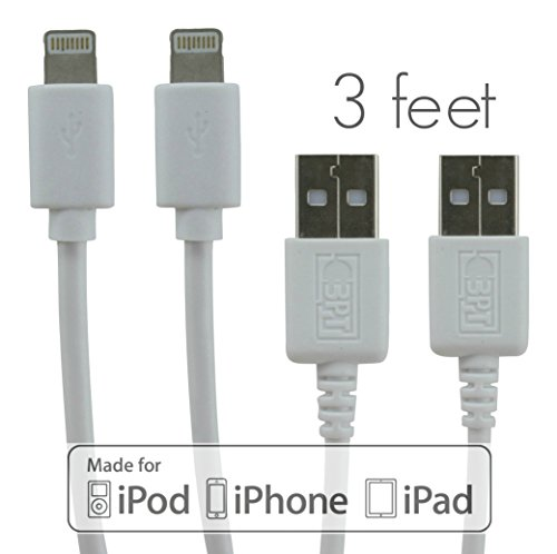 UPC 690443208431, BestPowerTech® Apple Certified MFi Lightning to USB Cable [2-Pack, 3 ft] - Premium Quality Cables - for all newer iPhone iPod iPad
