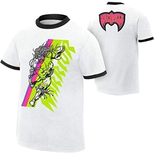 Ultimate Warrior WWE Authentic White Ringer T-shirt by WWE