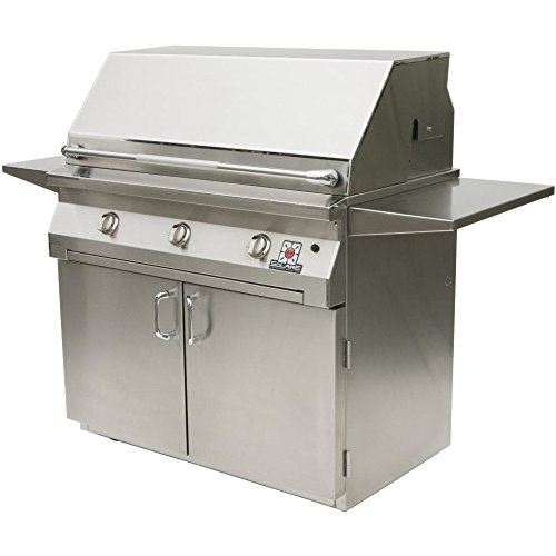 Solaire Gas Grills 42 Inch All Infrared Propane Gas Grill With Rotisserie On Cart