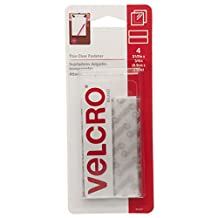 Velcro(r) Brand Fasteners Sticky Back Tape 3/4-InchX3-1/2-Inch 4-Pack, Clear