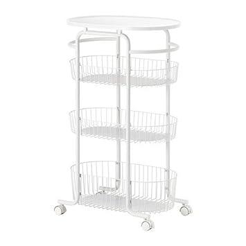 IKEA SPRUTT Rollwagen in weiß; (56x35cm): Amazon.de: Küche & Haushalt