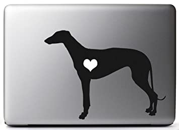 Greyhound Shipping Quote >> Heart My Greyhound Macbook Black Vinyl Sticker 5 Decal Mac Apple Laptop Ipad
