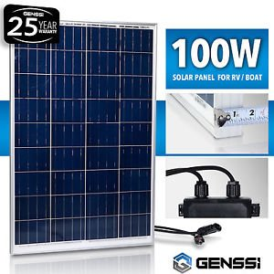 Best Cheap Deal for GENSSIÂ 100W Solar Panel 12V 12 Volt Poly Off Grid Battery Charger RV Boat from Genric - Free 2 Day Shipping Available