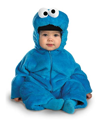 (Cookie Monster Deluxe Two-Sided Plush Jumpsuit Costume - Small)