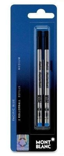 Montblanc(R) Refills, Rollerball, Medium Point,Pacific Blue, Pack Of 2