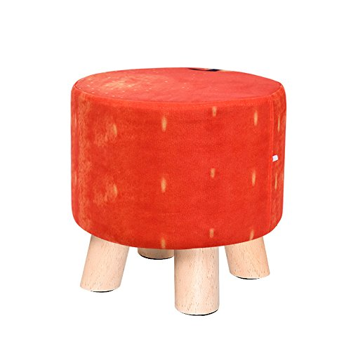 Living room sofa stool/Solid wood shoes bench Fabric fruit stool/Home coffee table stool Multifunctional footstool/Bed stool Solid wood stools/Creative shoe bench/Stool/2928cm (Color : F) by Xin-stool