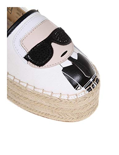 Espadrillas Mujer Lagerfeld Karl Tela Kl80311411 Blanco Uqf4C0xHnw