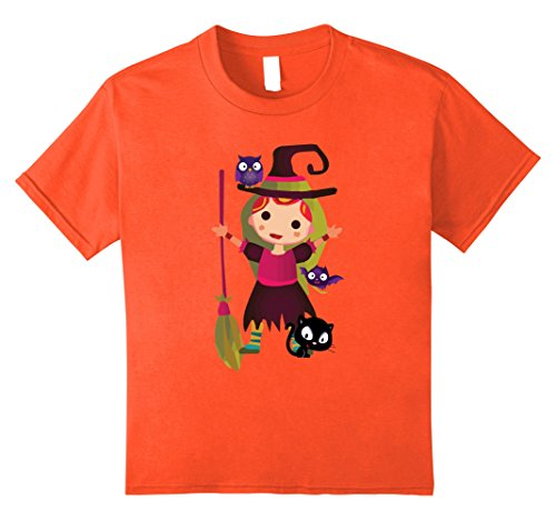 [Kids Cute Lil Girl Halloween TShirt in Kids Women And Men Sizes 10 Orange] (Cute Halloween Shirts For Kids)