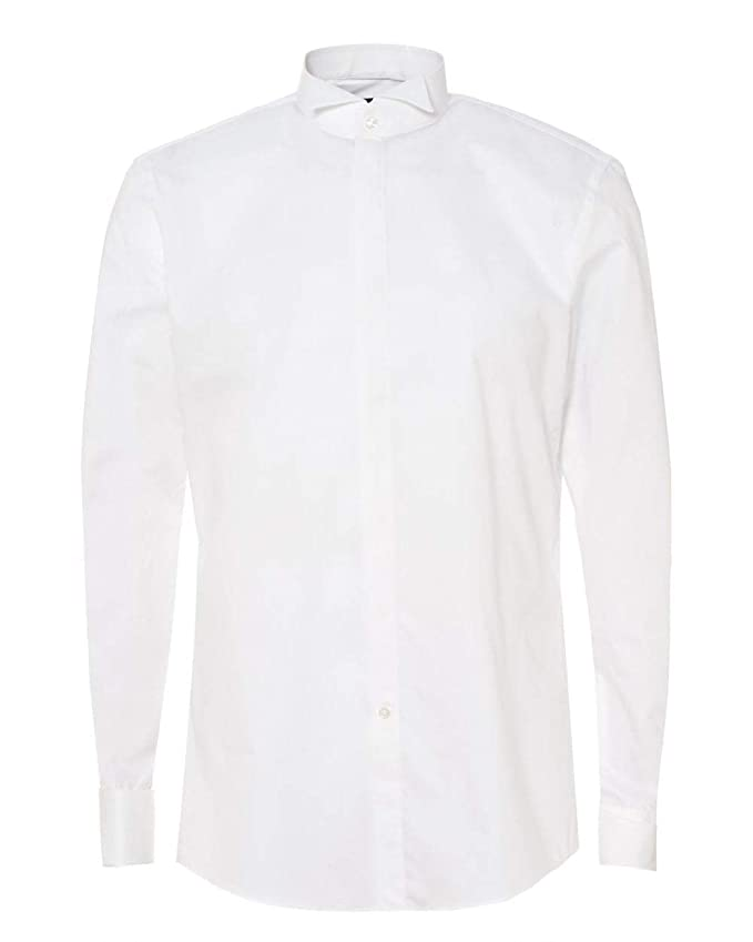 34dfa6008 BOSS Hugo Black Mens Jillik Slim Fit Dress Shirt: Amazon.co.uk: Clothing