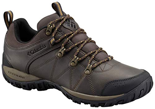(Columbia Men's Peakfreak Venture Waterproof Trail Shoe, Cordovan/Squash, 11.5 D US)