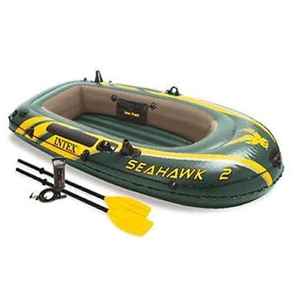 Amazon.com: Intex Seahawk 2 juego de barco inflable con ...