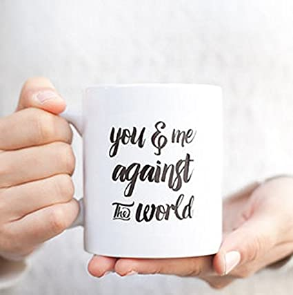 Amazon Com You And Me Against The World Mug Valentines