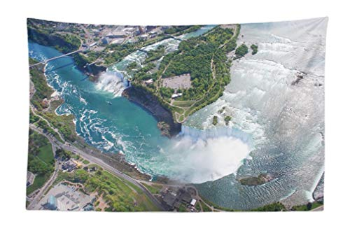 Deronge Tapestry, American Canadian Canada Amazing Toronto USA Cityscape New Tapestry Wall Hanging Decor 45x30 Inch Wall Art Tapestry for Men Bedroom Decorative Tapestry Dorm Decor,American Canadian (Best Time To Visit Toronto And Niagara Falls)