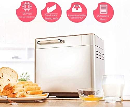 Brood Machine LCD Volautomatische Multifunctionele Intelligent RVS Broodrooster 25's glutenvrij 13h Delay Time 1u Keep Warm broodbakmachine liuchang20