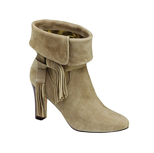 Cuff Suede Booties - Johnston & Murphy Women's Keaton Cuff Bootie Taupe Kid Suede, Brown, Size 6.5