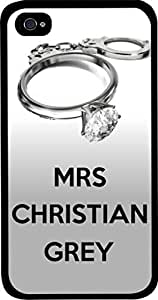 Mrs. Christian Grey-Hard Black Plastic Snap - On Case -Apple Iphone 5C ONLY- Great Quality! by icecream design