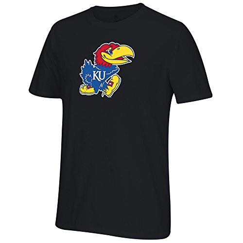 Jayhawk Tee (NCAA Kansas Jayhawks Men's Chenillenaire Originals Go-To Short Sleeve Tee, Large,)
