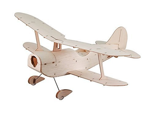 RC Airplane Mini Balsa Wood Plane Copernicus Micro Indoor Woodines Model Kit + Motor (Micro Fly Rc Model)