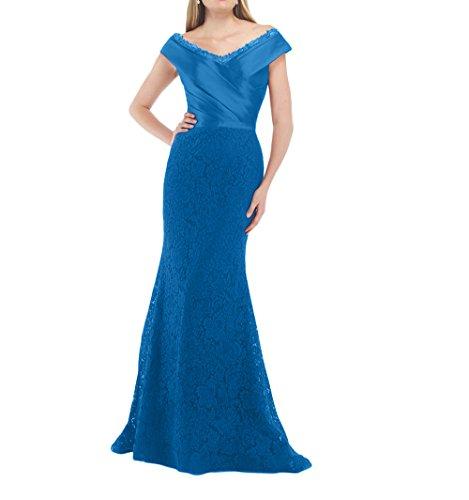 Brautmutterkleider Lang Abiballkleider Blau Ausschnitt mia Abschlussballkleider Etuikleider Brau V La Promkleider 2018 Spitze nzqT6PU
