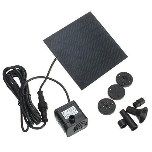 1.2W Solar Panel Power Water Pump Kit For Submersible Fountain Pond by Ologymart