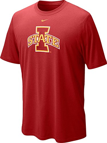 Nike Iowa State Cyclones Men's College Logo Legend Dri-FIT T-Shirt (2XL, Varsity Crimson Red)