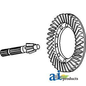 A & I Products Ring & Pinion Set Replacement for Massey Ferguson Part Number ...