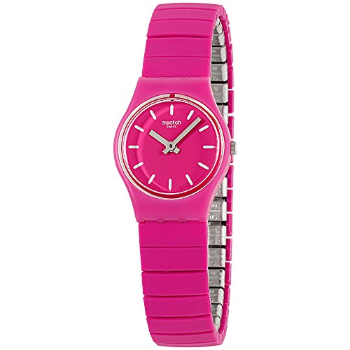 Swatch Originals Flexipink Pink Dial Stainless Steel Ladies Watch - Ladies Steel Pink Stainless Dial