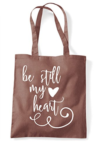My Chestnut Be Bag Still Heart Romantic Tote Statement Shopper PRqB6TRx